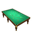 billiard game balls position on a realistic pool vector image vector image