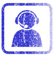 call center operator framed textured icon vector image vector image