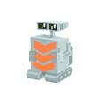 cartoon crawler robot character vector image vector image