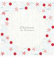 christmas ball star fish sea shell border vector image vector image