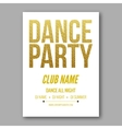 dance party flyer golden style template vector image