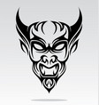 Devils Head Tattoo Design vector image vector image