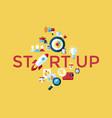 digital yellow startup vector image vector image