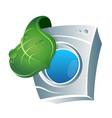 eco washing emblem vector image