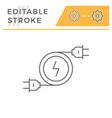 electricity line icon symbol vector image vector image