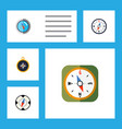 flat icon direction set of compass divider vector image vector image