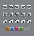 folder icons - 1 of 2 - satinbox series vector image