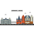 germany mainz city skyline architecture vector image vector image