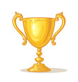 gold trophy cup winner concept hand drawn vector image