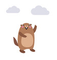groundhog showing cloud and no shadow vector image vector image