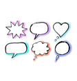 grunge hand drawn speech bubbles vector image