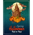 Halloween colored background vector image vector image