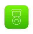 hockey medal icon green vector image vector image