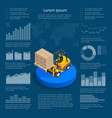 Infographics with data icons world map charts and