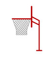 isolated basketball net icon vector image