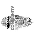 it takes a village text background word cloud vector image