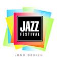 jazz festival logo template creative banner vector image vector image