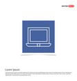 laptop icon flat design - blue photo frame vector image