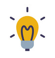 ligt bulb creative idea sign flat style vector image