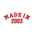 made in 2003 lettering year birth or a vector image vector image