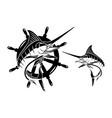 marlin fish sets vector image vector image
