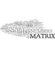 matrix word cloud concept vector image vector image