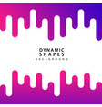 modern dynamic shapes style background vector image vector image