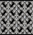 modern geometric seamless pattern abstract black vector image