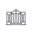 museumparliament line icon sign vector image vector image