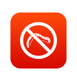 no caterpillar sign icon digital red vector image vector image