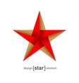 Origami Star from paper vector image vector image