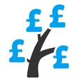 Pound Money Tree Flat Icon Symbol vector image vector image
