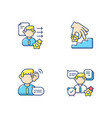 professional skills development rgb color icons vector image vector image