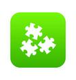 puzzle icon digital green vector image vector image