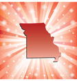 Red Missouri vector image vector image