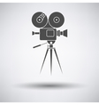 Retro cinema camera icon vector image