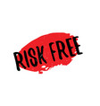 risk free rubber stamp vector image vector image
