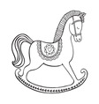 Rocking horse on white background vector image