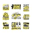 Run sport motivation set vector image vector image
