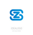 s and z logo zs - design element or icon initial vector image