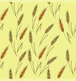 seamless background with wheat spikelets vector image vector image