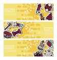 set of horizontal banners about party vector image vector image