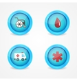 set of medical icons on white background vector image vector image
