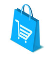 shopping bag icon isometric style vector image vector image