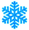 snowflake isolated on light background vector image vector image