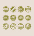 stamps and stickers icons set vector image vector image
