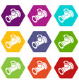 tee pipe icons set 9 vector image vector image