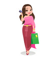 thailand woman shopping with credit card vector image