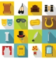 Theater icons set flat style vector image vector image