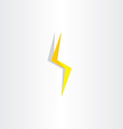 thunder lighting bolt yellow flash icon vector image vector image